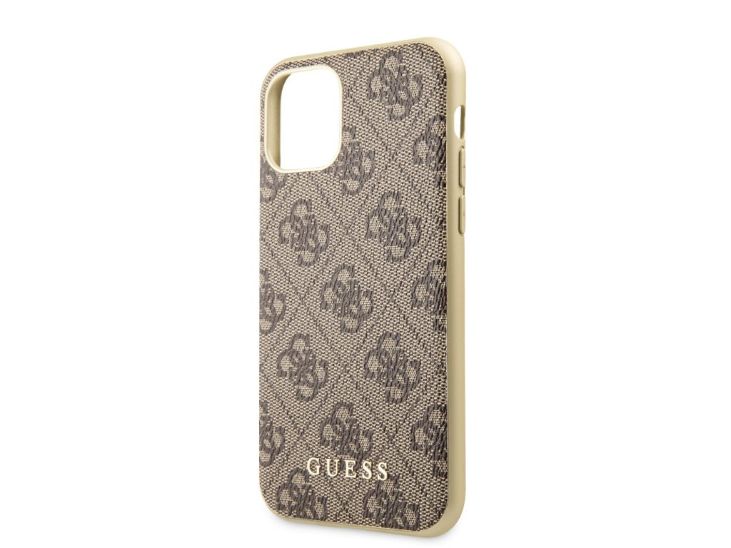 Ochranný kryt na iPhone 11 - Guess, 4G Cover Brown