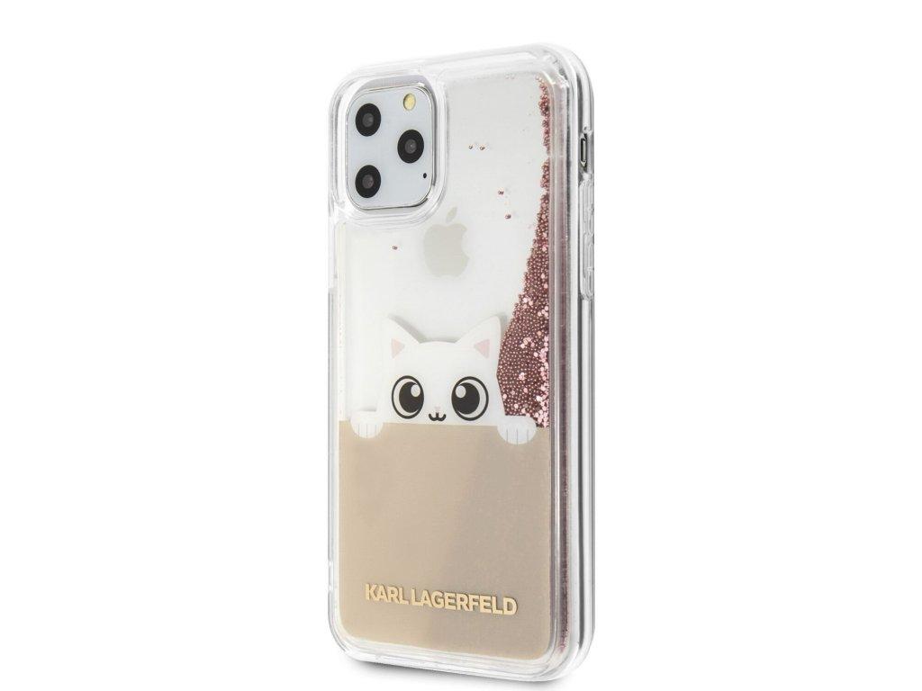 Ochranný kryt na iPhone 11 Pro - Karl Lagerfeld, Glitter Peek and Boo
