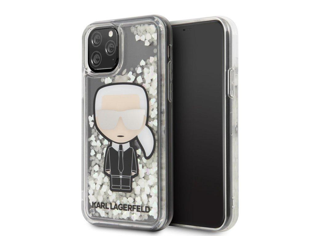 Ochranný kryt na iPhone 11 Pro MAX - Karl Lagerfeld, Glitter Iridescente