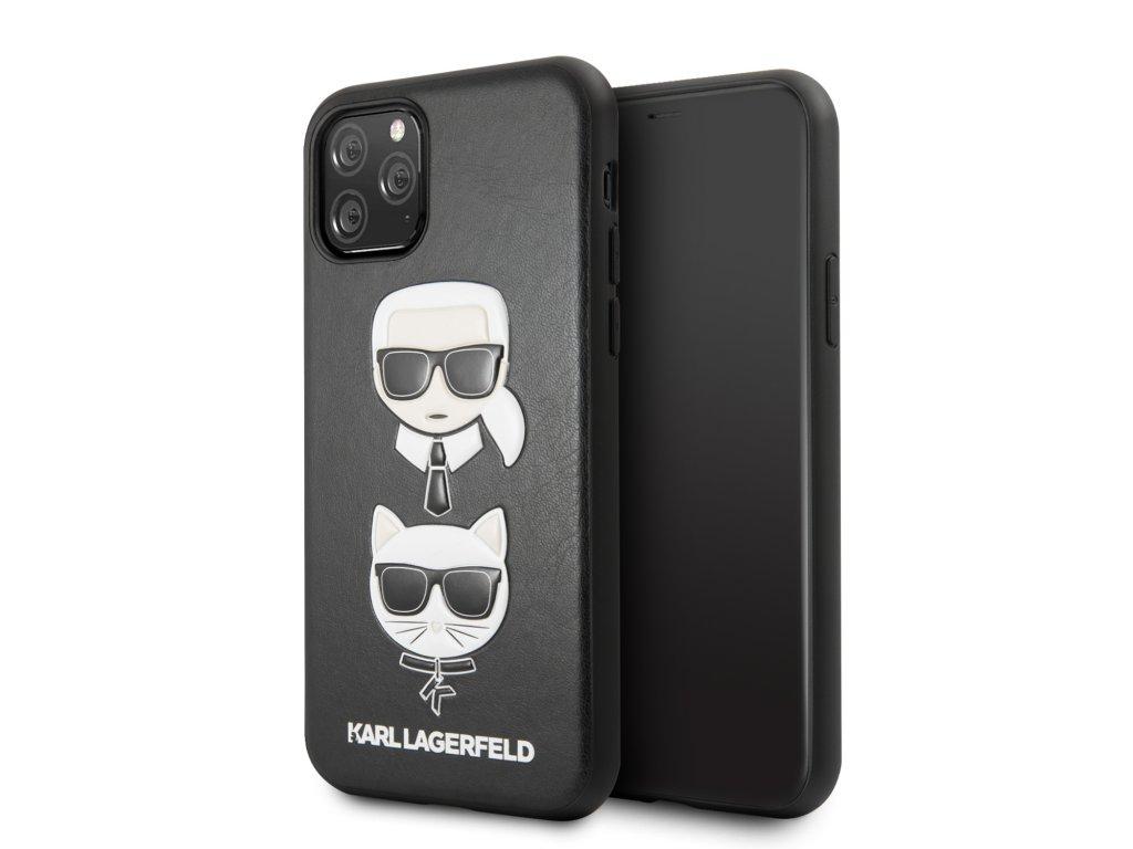 Ochranný kryt na iPhone 11 Pro - Karl Lagerfeld, Choupette Cover Black