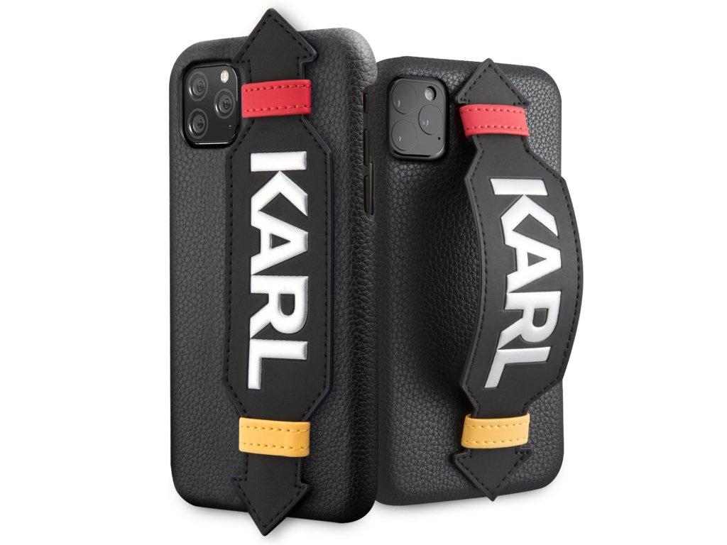 Ochranný kryt na iPhone 11 - Karl Lagerfeld, Strap Cover Black