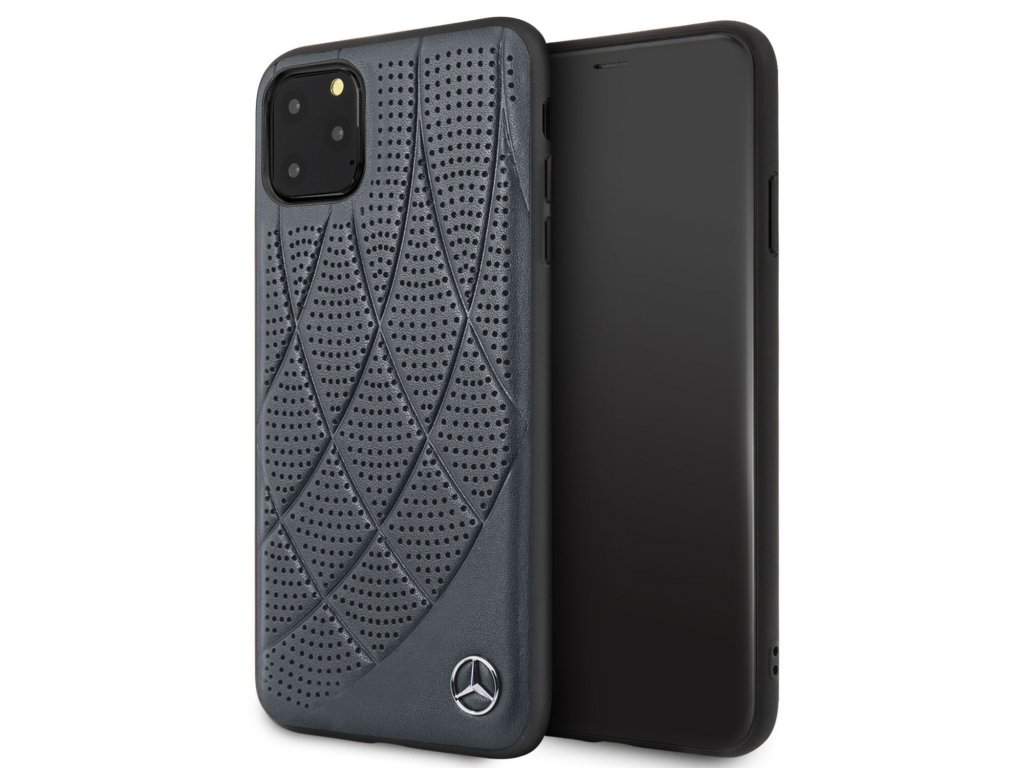 Ochranný kryt na iPhone 11 Pro MAX - Mercedes, Leather Cover Blue