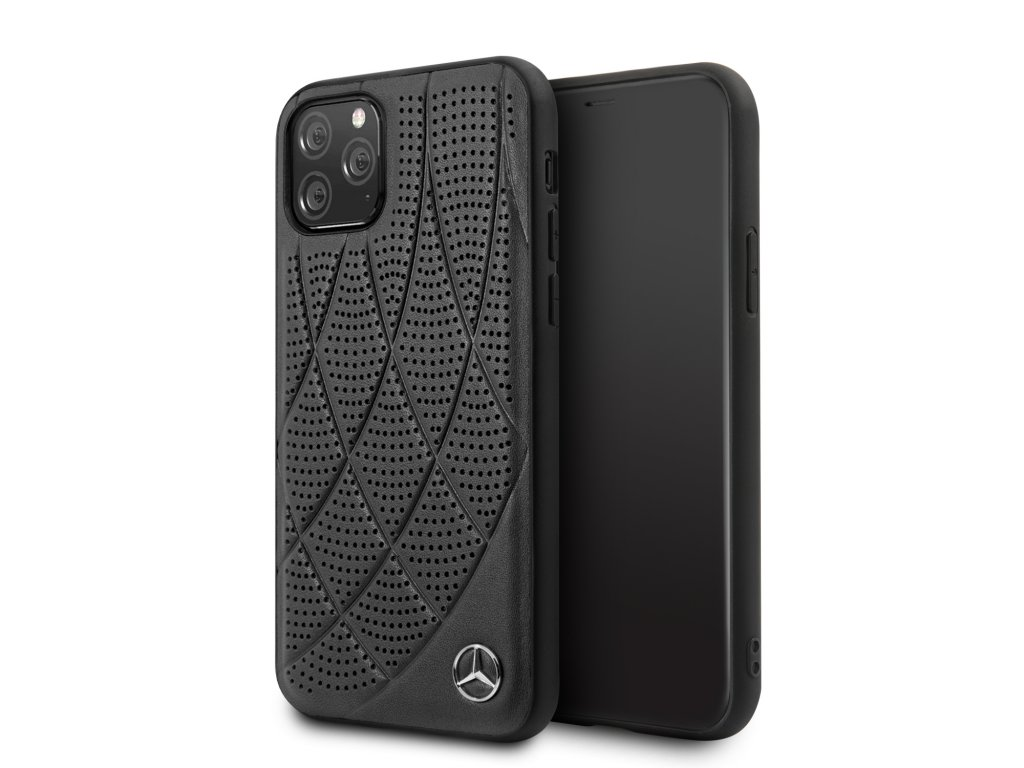 Ochranný kryt na iPhone 11 Pro - Mercedes, Leather Cover Black