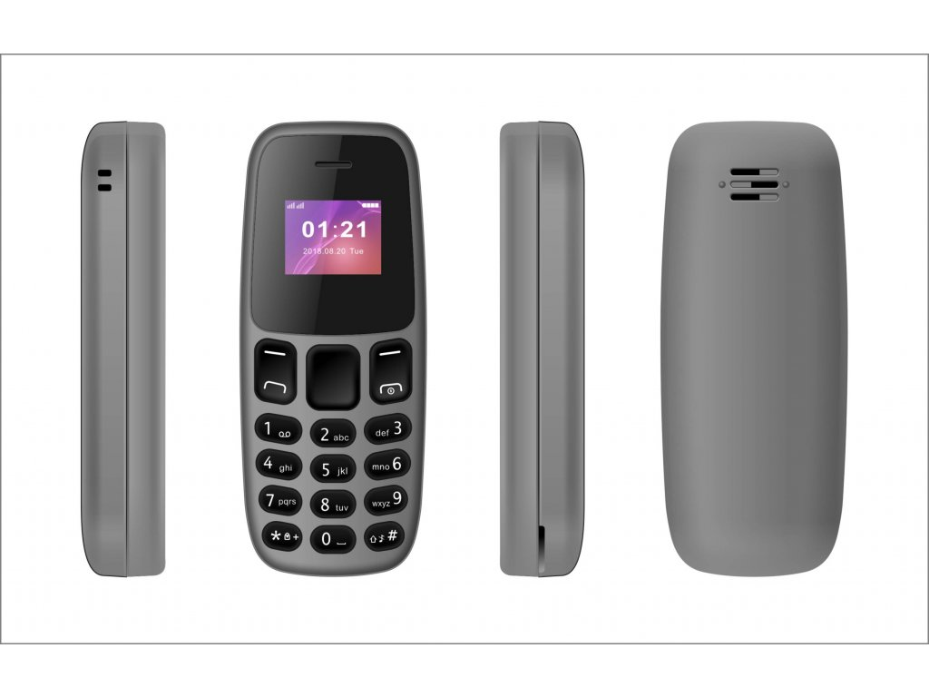Mini mobilní telefon - L8STAR, BM105 Gray