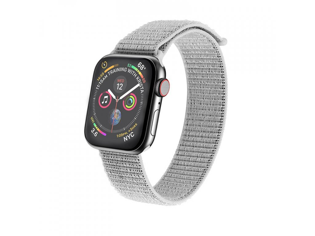 Řemínek pro Apple Watch 42mm / 44mm - Hoco, WB06 Tortuous Nylon Gray