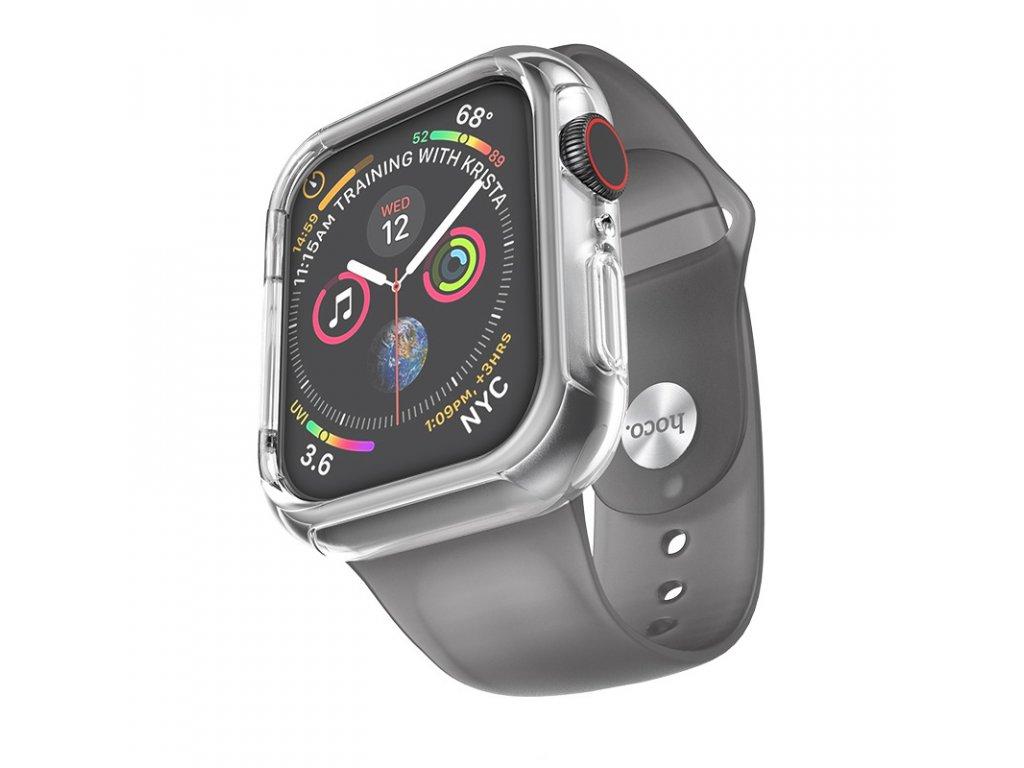 Řemínek s krytem pro Apple Watch 42mm / 44mm - Hoco, WB09 Ice Crystal Grey