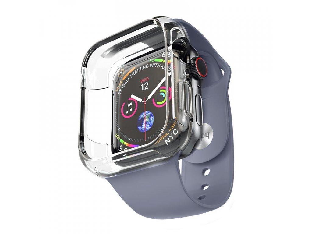 Řemínek s krytem pro Apple Watch 42mm / 44mm - Hoco, WB09 Ice Crystal Blue