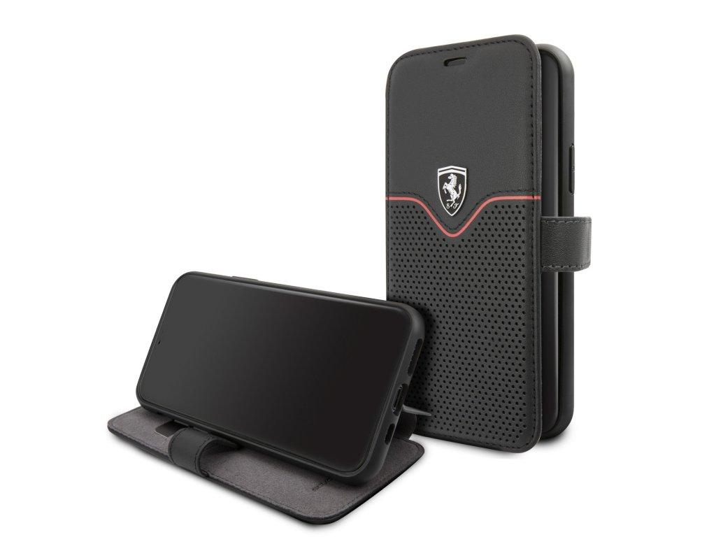 Ochranné pouzdro na iPhone 11 Pro - Ferrari, W Stand Book Black