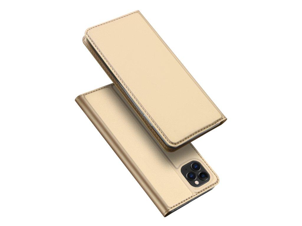 Knížkové pouzdro na iPhone 11 Pro MAX - DuxDucis, SkinPro Gold