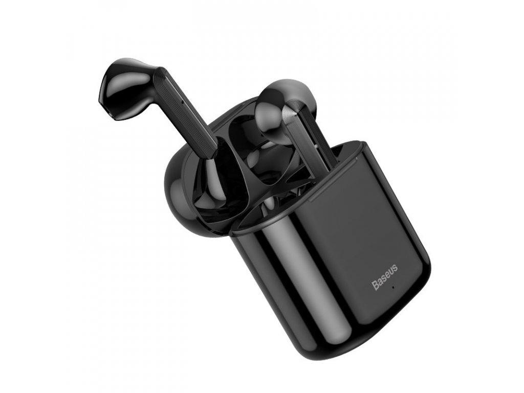 Bezdrátová sluchátka - Baseus, W09 TWS Black