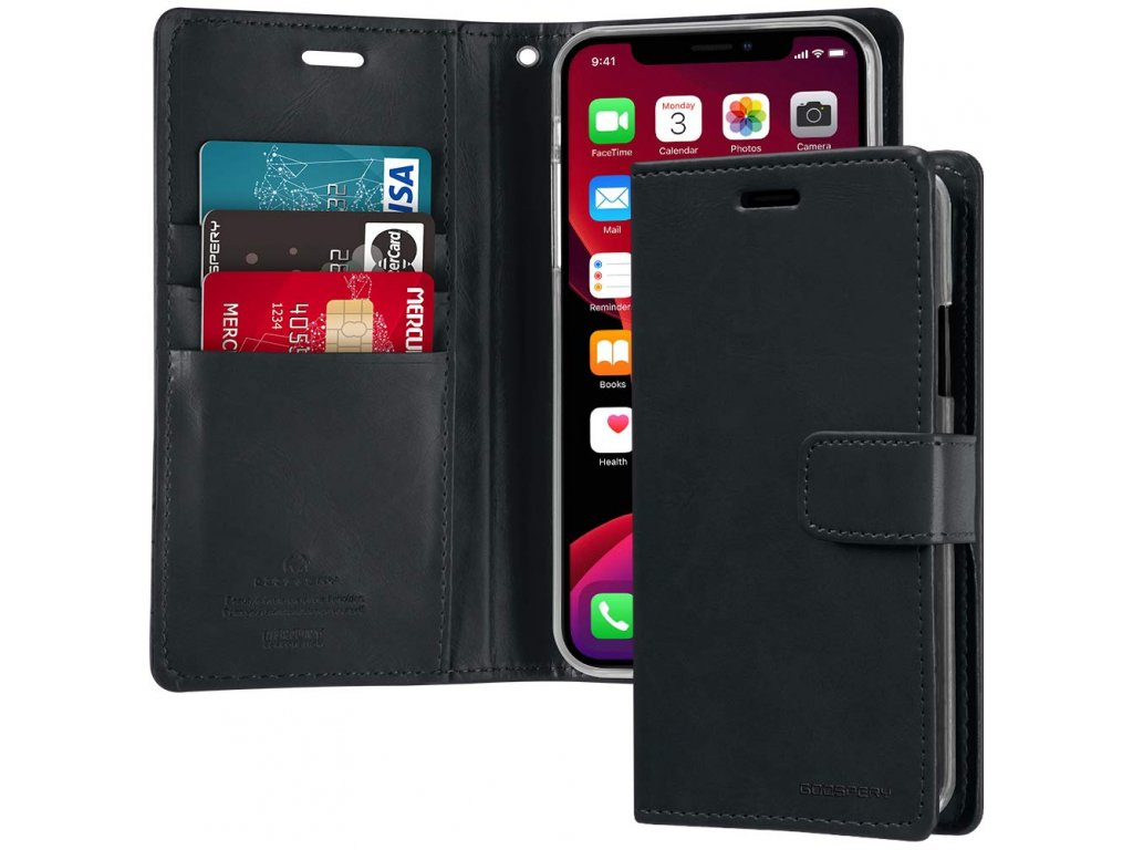 Pouzdro na iPhone 11 Pro - Mercury, Bluemoon Diary NAVY