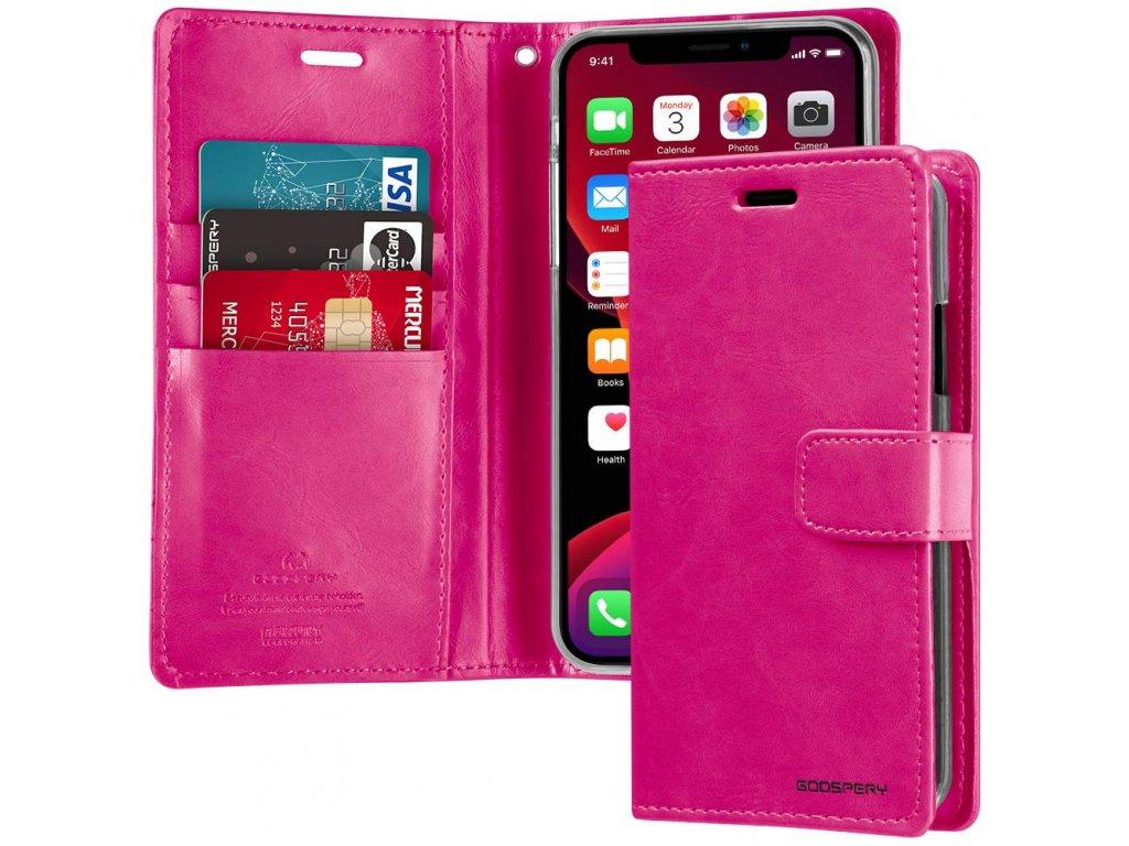 Pouzdro na iPhone 11 Pro - Mercury, Bluemoon Diary HOTPINK