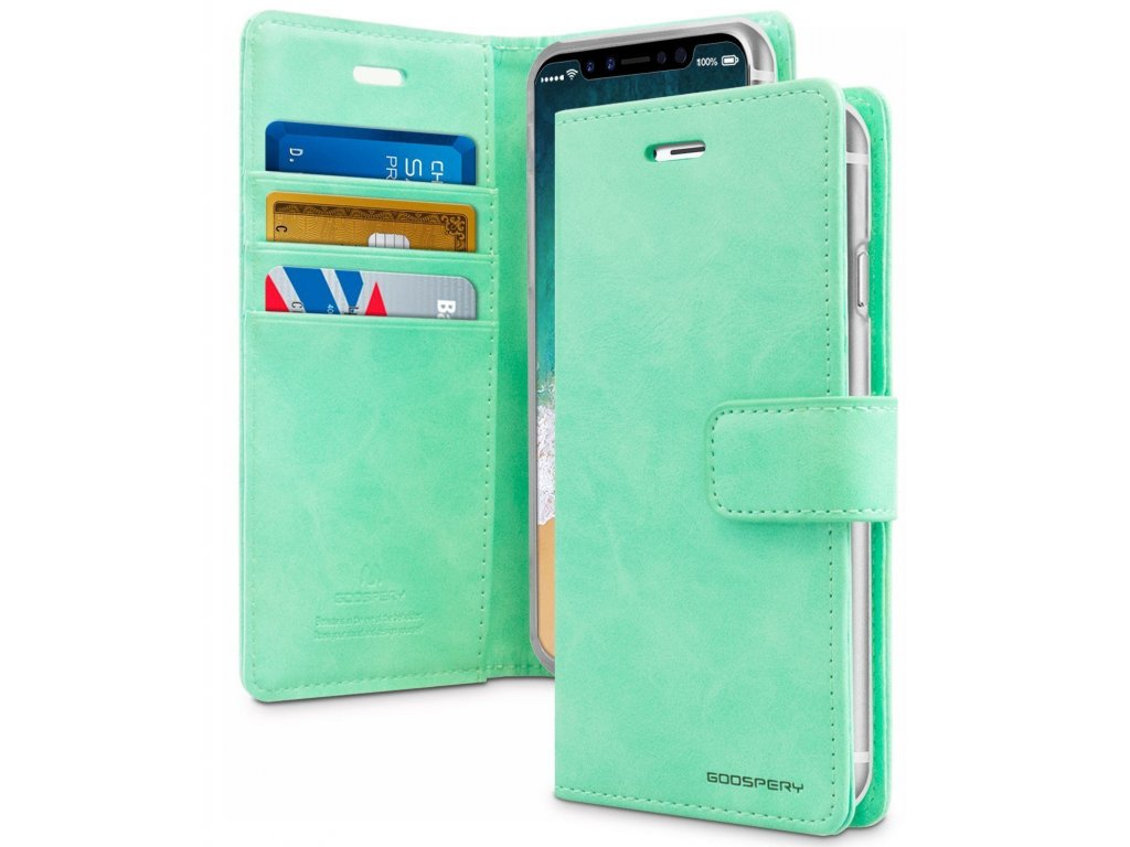 Pouzdro na iPhone 11 - Mercury, Bluemoon Diary MINT