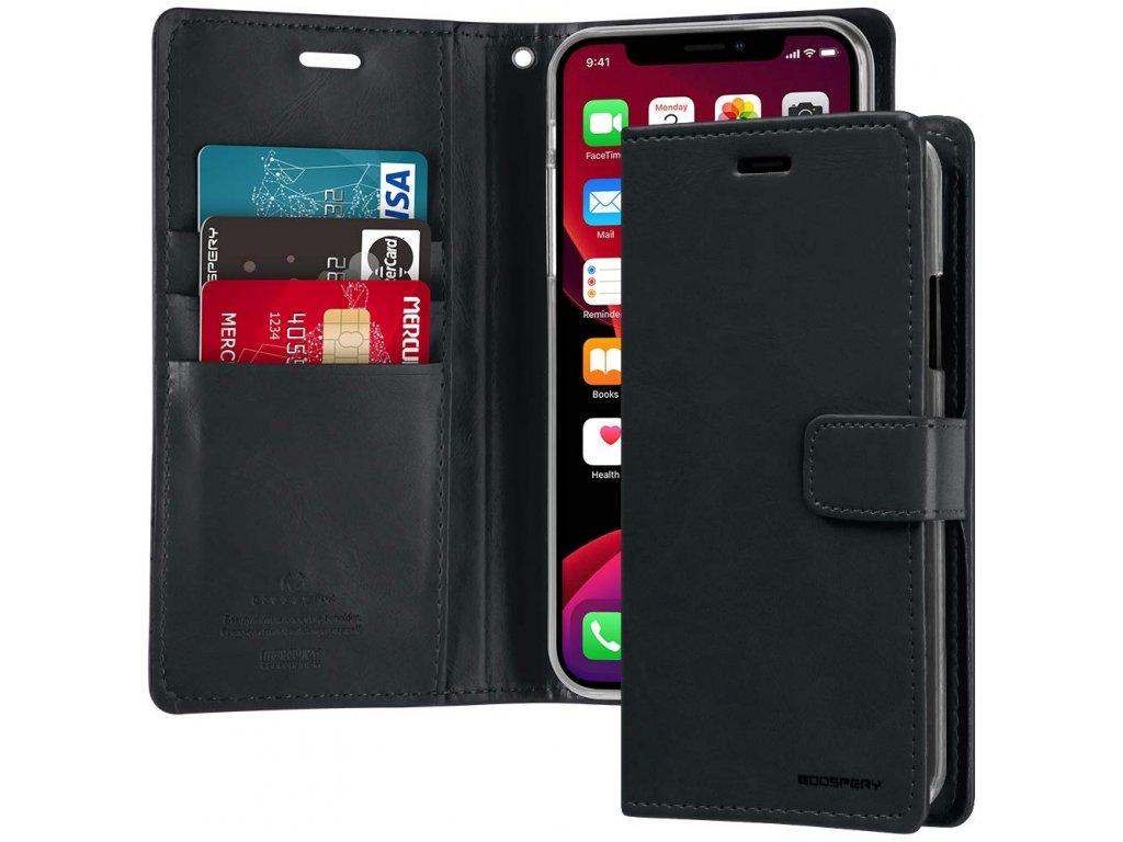 Pouzdro na iPhone 11 Pro MAX - Mercury, Bluemoon Diary NAVY