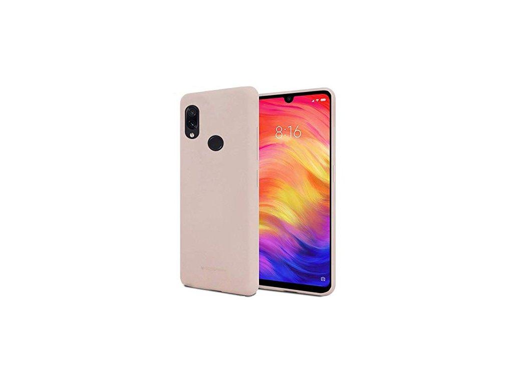 Pouzdro / kryt pro Xiaomi Redmi Note 7 - Mercury, Soft Feeling Pink Sand