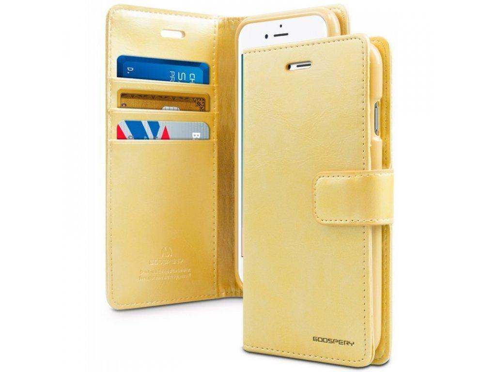 Pouzdro na iPhone 11 Pro MAX - Mercury, Bluemoon Diary GOLD