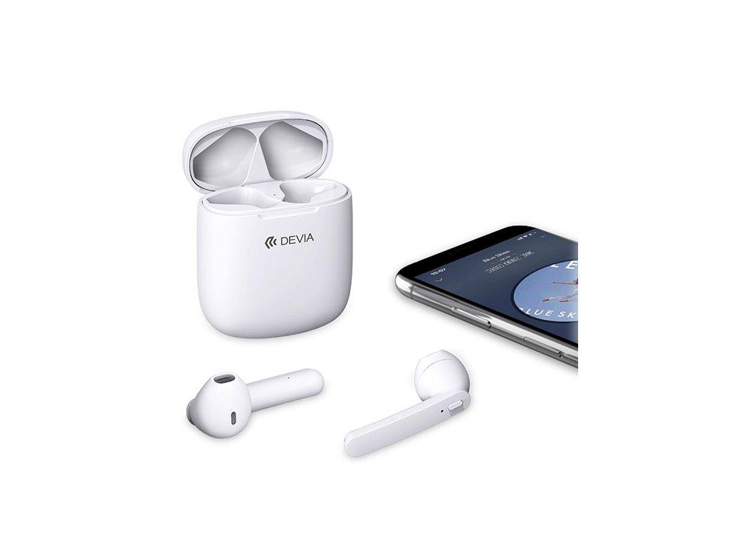 Bezdrátová sluchátka - Devia, Smart TWS White