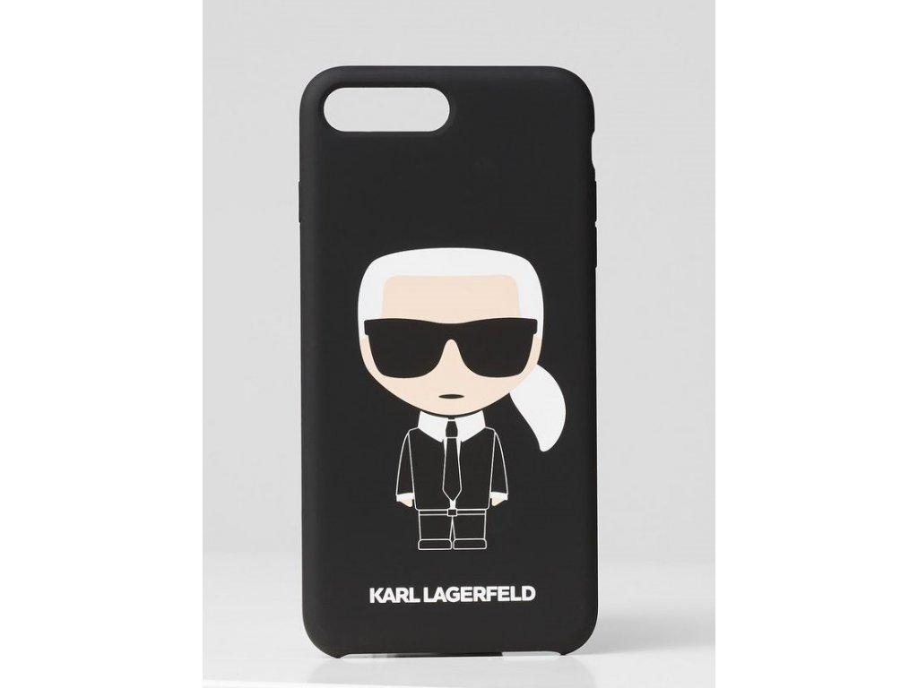 Ochranný kryt pro iPhone 7 PLUS / 8 PLUS - Karl Lagerfeld, FullBody Silicone Black