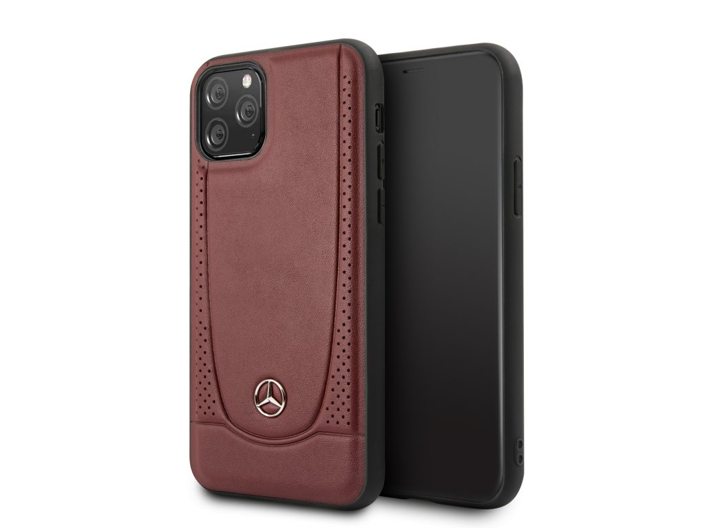 Ochranný kryt na iPhone 11 Pro - Mercedes, Perforation Cover Red