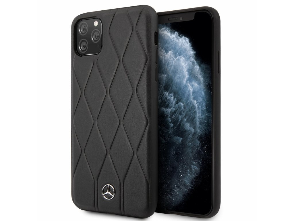 Ochranný kryt na iPhone 11 Pro - Mercedes, HC Quilted Cover Black