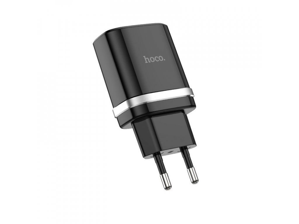 Nabíjecí AC adaptér pro iPhone a iPad - Hoco, C12Q QC3.0 Black