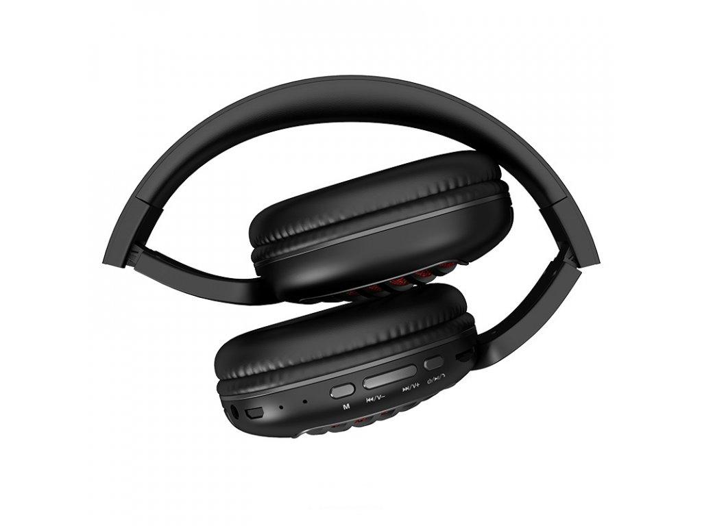 Bezdrátová náhlavní sluchátka - Hoco, W23 Brilliant Black