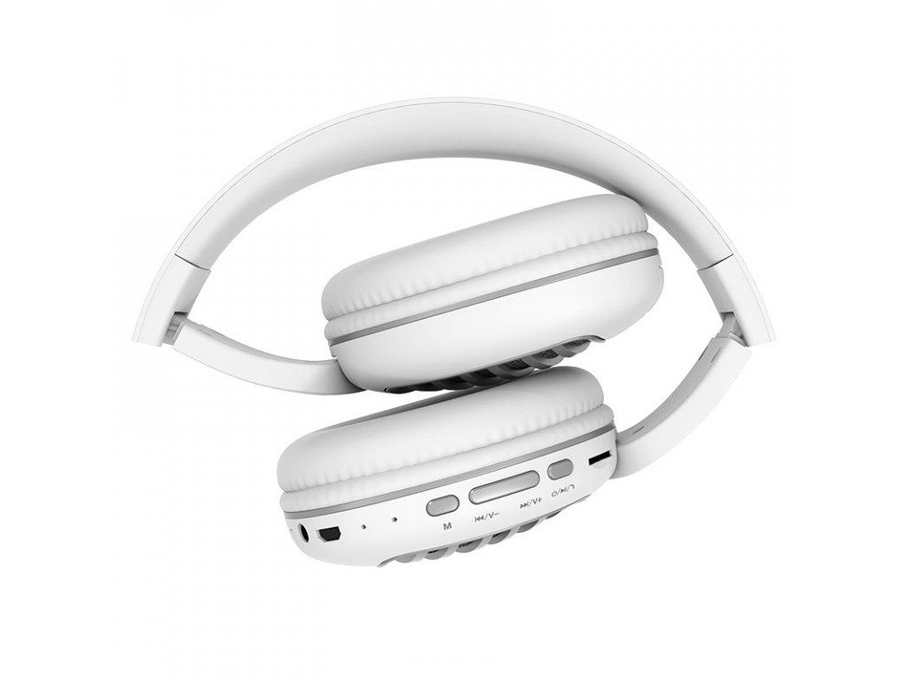 Bezdrátová náhlavní sluchátka - Hoco, W23 Brilliant White