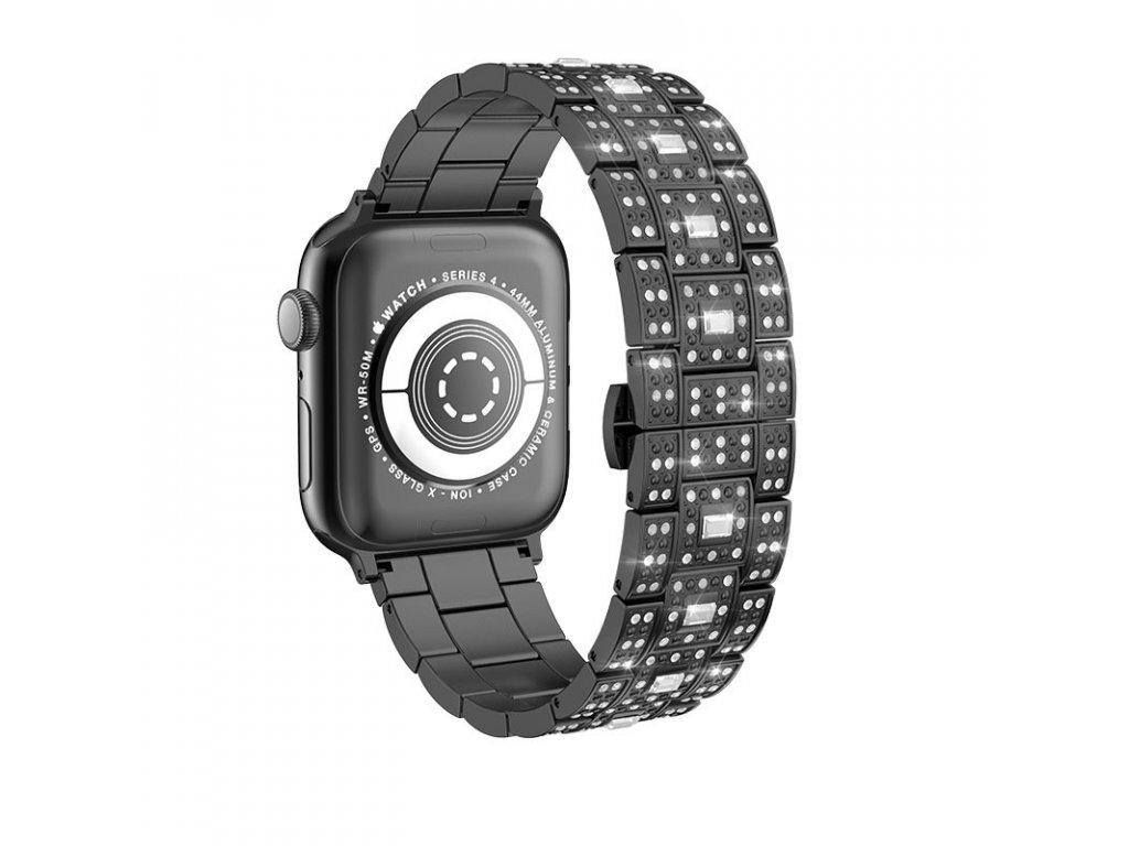 Kovový řemínek pro Apple Watch 42mm / 44mm - Hoco, WB13 Starlight Black