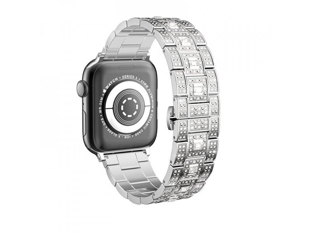 Kovový řemínek pro Apple Watch 42mm / 44mm - Hoco, WB13 Starlight Silver