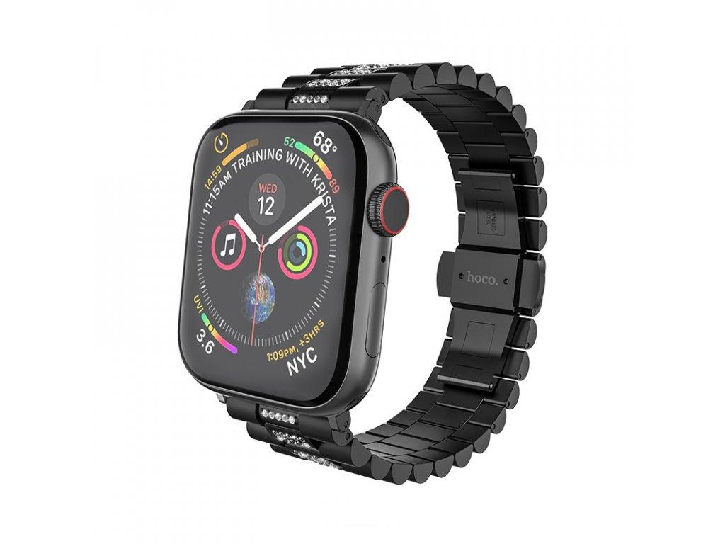 Kovový řemínek pro Apple Watch 42mm / 44mm - Hoco, WB08 Shining Black