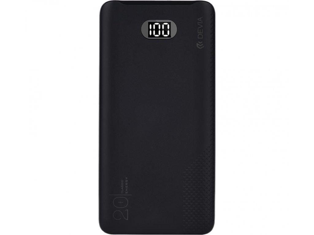 Externí baterie / powerbanka - Devia, Digital 20000mah Black