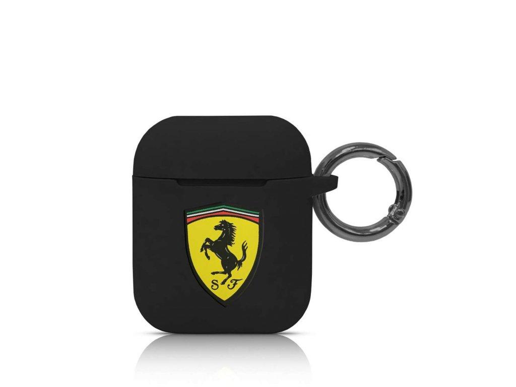 Pouzdro pro sluchátka AirPods - Ferrari, Silicone Black