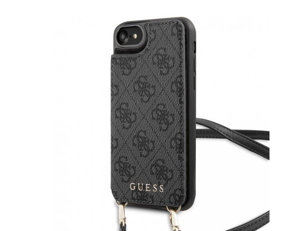 Ochranný kryt pro iPhone 7 / 8 / SE (2020) - Guess, 4G Crossbody Cardslot Grey