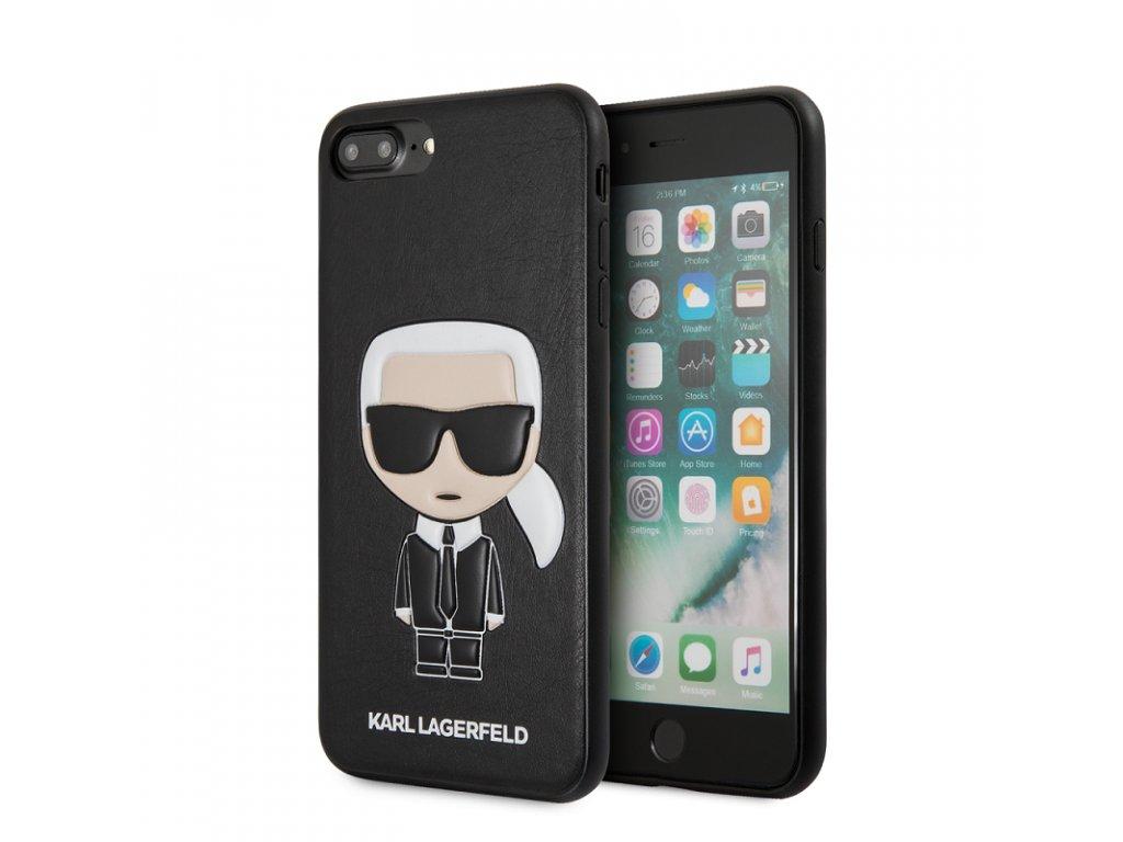 Ochranný kryt pro iPhone 7 PLUS / 8 PLUS - Karl Lagerfeld, Ikonik Back Black
