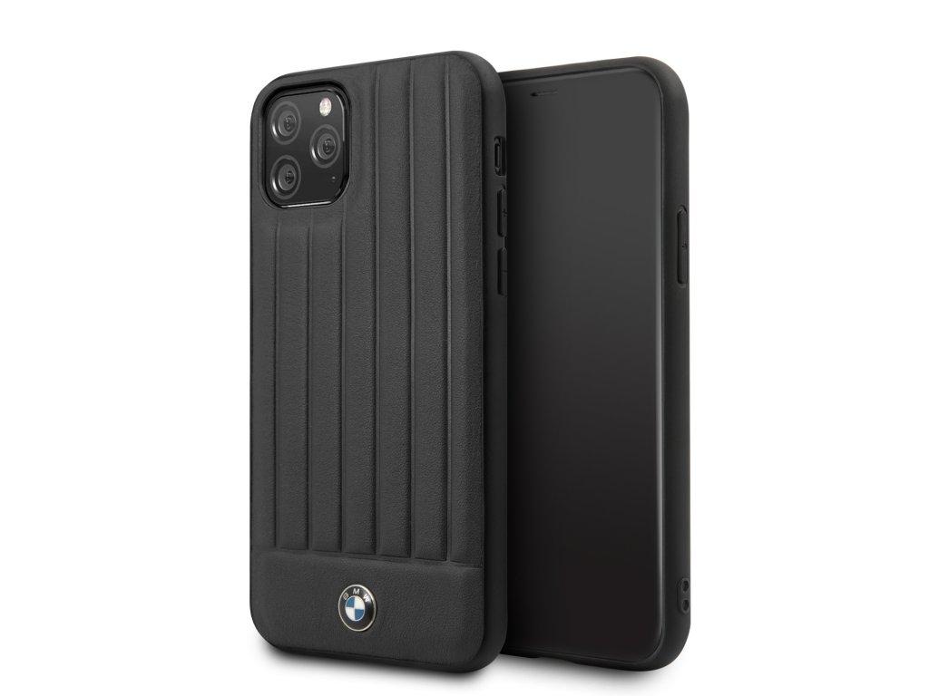 Ochranný kryt na iPhone 11 Pro - BMW, Real Leather Black