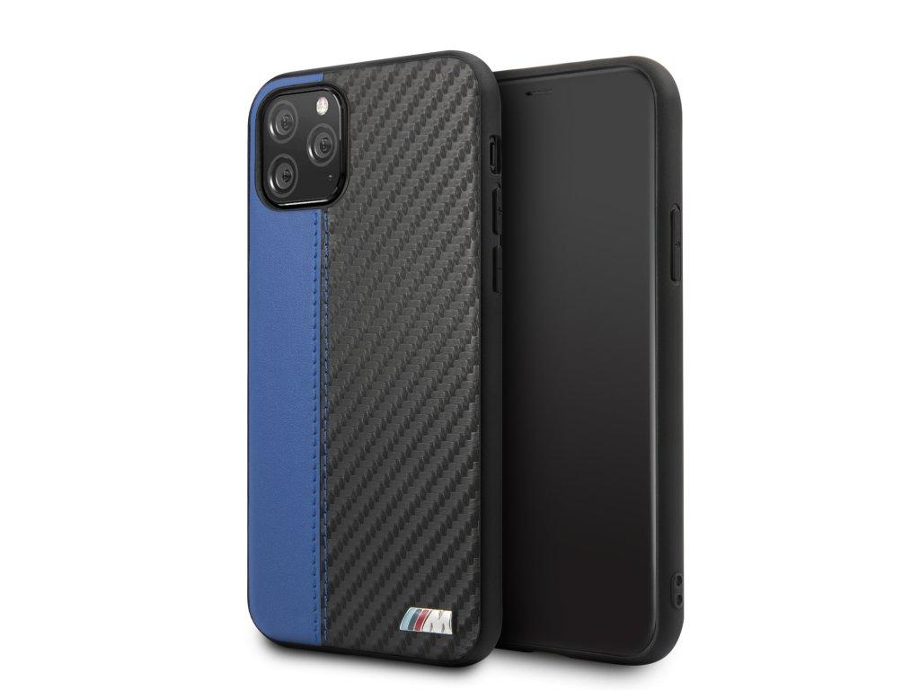 Ochranný kryt na iPhone 11 Pro MAX - BMW, Carbon Stripe Blue