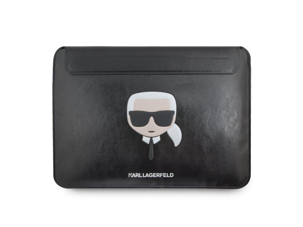 Pouzdro na MacBook Pro 13 (2016-2019) / MacBook Air 13 (2018-2019) - Karl Lagerfeld, Leather Sleeve Black