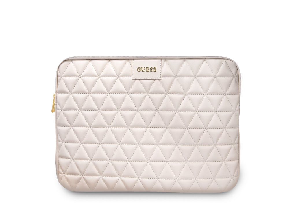 """Pouzdro na notebook 13"""" - Guess, Quilted Sleeve Pink"""