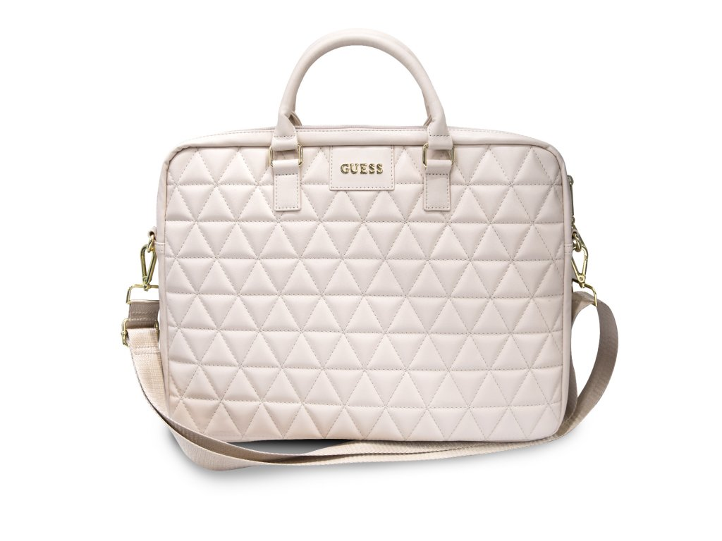 """Taška na notebook 15"""" - Guess, Quilted Bag Pink"""