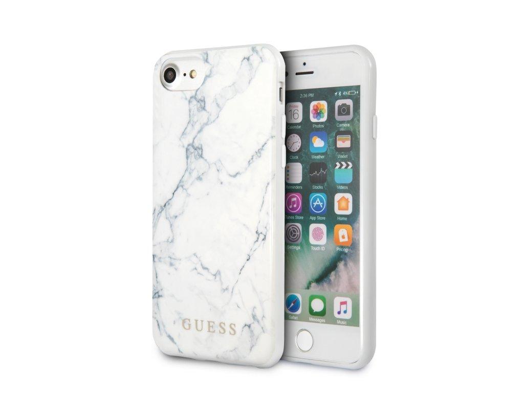 Ochranný kryt pro iPhone 7 / 8 / SE (2020) - Guess, Marble White