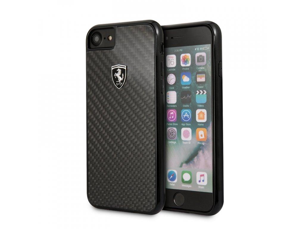 Ochranný kryt pro iPhone 7 / 8 / SE (2020) - Ferrari, Heritage Carbon Black