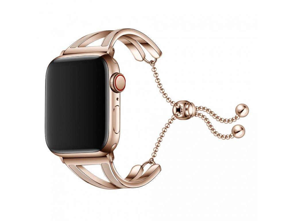 Pásek / řemínek pro Apple Watch 38mm / 40mm - Tech-Protect, Chainband Gold