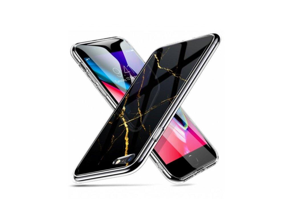 Ochranný kryt pro iPhone 7 / 8 / SE (2020) - ESR, Mimic Marble Black