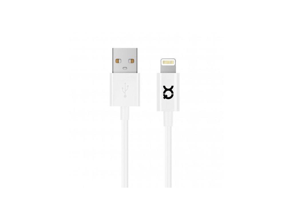 Certifikovaný kabel lightning - Xqisit, 100cm White
