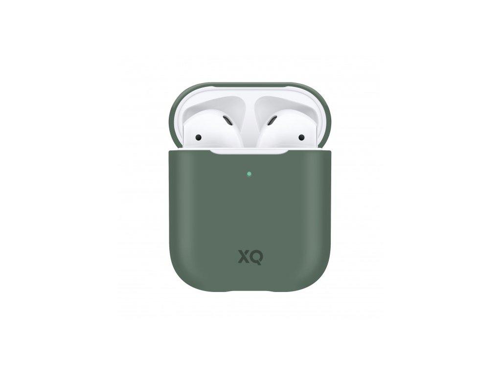 Pouzdro pro sluchátka AirPods - Xqisit, Silicone Case Green