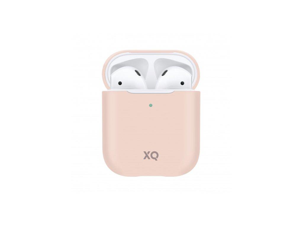 Pouzdro pro sluchátka AirPods - Xqisit, Silicone Case Pink