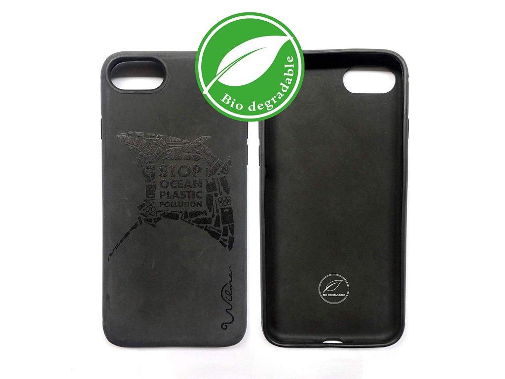 Eko kryt pro iPhone 8 / 7 / 6s / 6 / SE (2020) - Wilma, Stop Plastic Manta Black