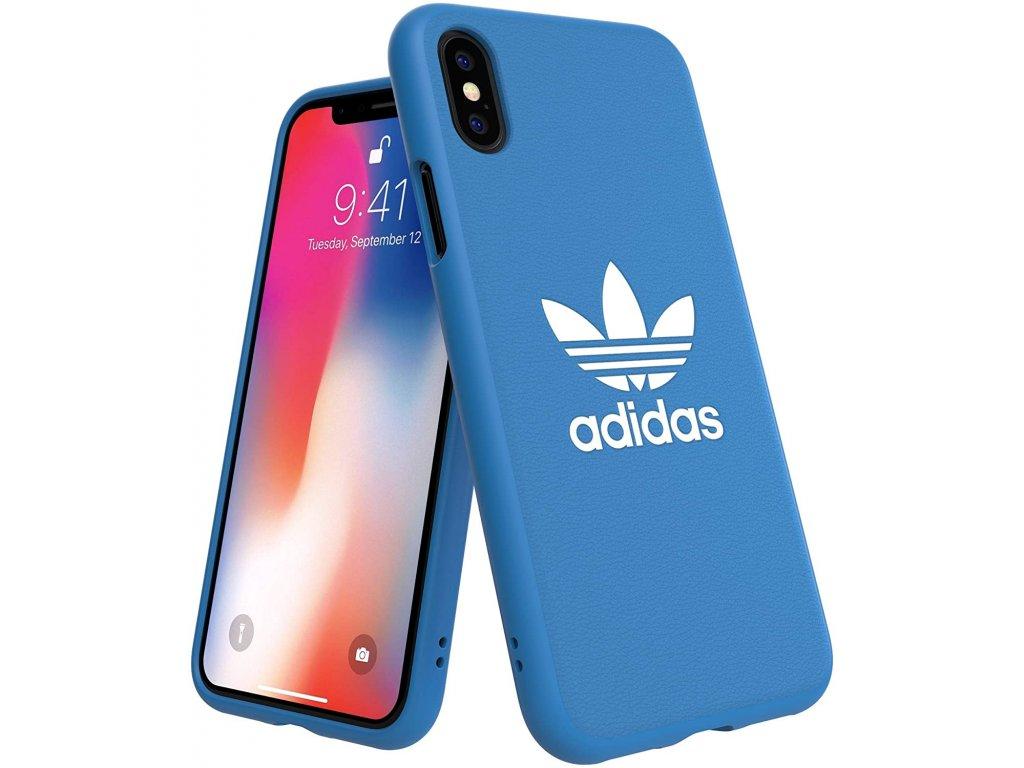 Ochranný kryt pro iPhone XS / X - Adidas, Moulded Case Basic Blue
