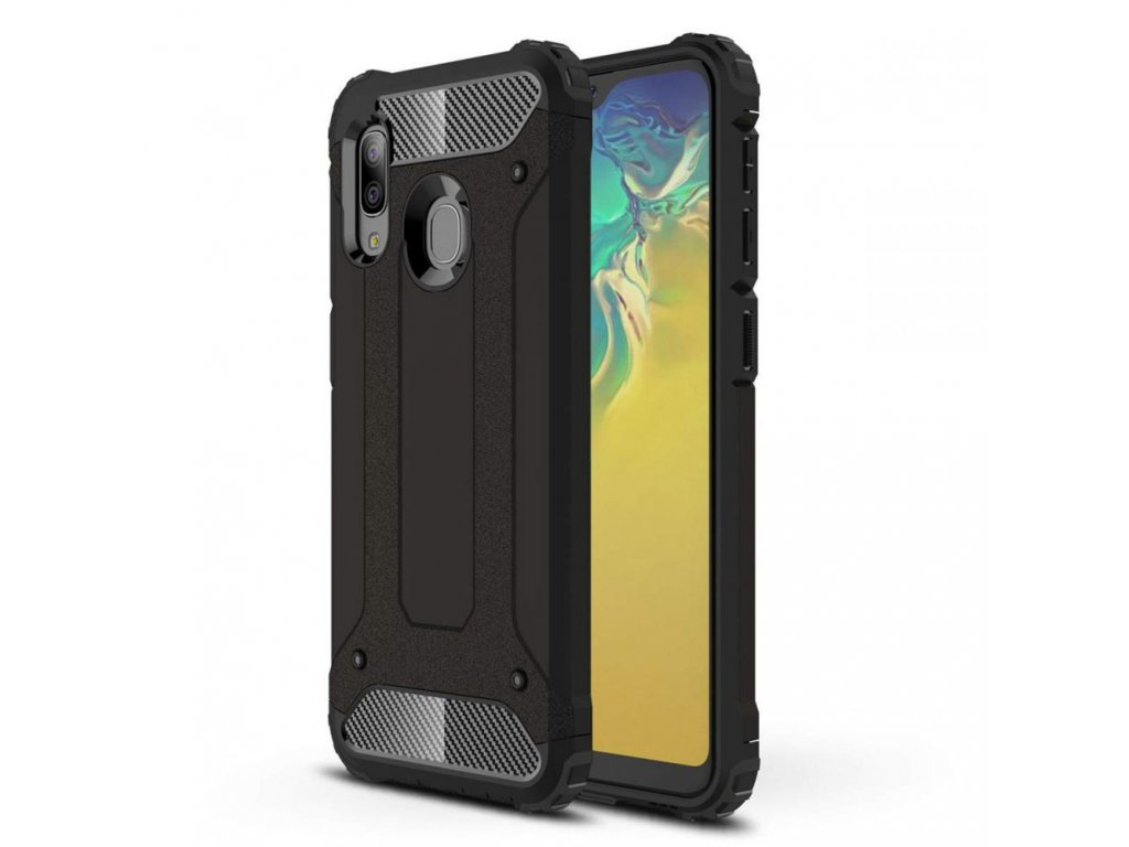 Ochranný kryt na Samsung GALAXY A20E A202F - Tech-Protect, Xarmor Black