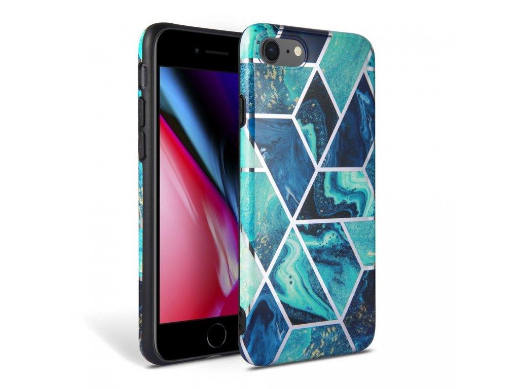 Ochranný kryt pro iPhone 7 / 8 / SE (2020) - Tech-Protect, Marble Blue